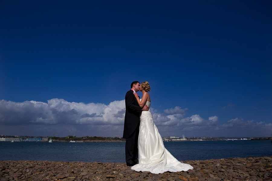 Laura and Lee wedding photo Mount edgcumbe house Cornwall