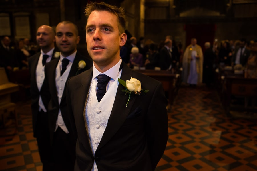 Groom at the Alter Wedding Photographer Cardiff