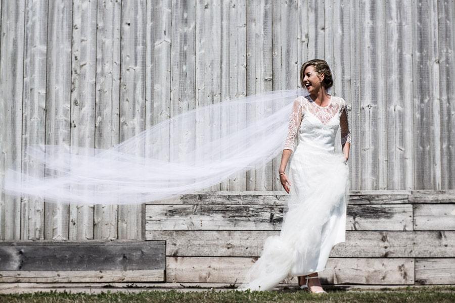 Beautiful bride The Barn South Milton wedding photographer devon
