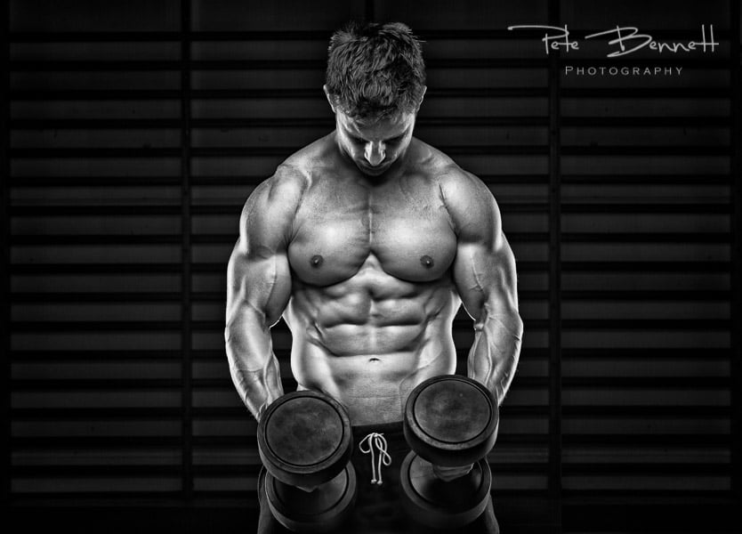 Fitness-photography; GOLD-award; 'Dean Burchell'