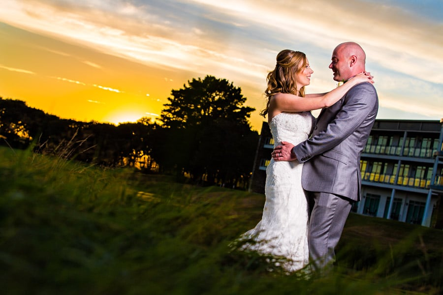 'St Mellion international resort Wedding Photographer' ; 'sunset at St Mellion International resport'
