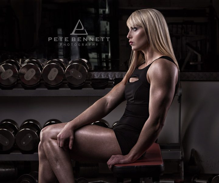 Figure competitor pre season photoshoot with Deborah Sarah Baker