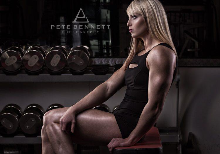 Figure competitor pre season photoshoot with Deborah Sarah Baker