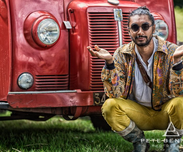 Portrait Shoot of Indian Man - Port Eliot Festival 2017
