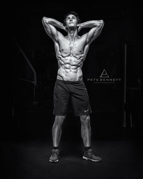 James Jordan Plymouth in a Gym Photo shoot