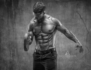 professional photography Dean Burchell fitness photo shoot abs and chest photo