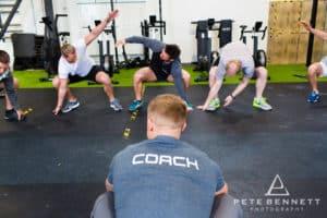 Ben Wadham training Challenge Mont Blanc team